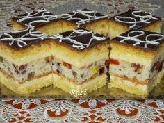 Rozi Erdélyi konyhája: Polgármester szelet Just Eat It, Cute Desserts, Hungarian Recipes, Dessert Drinks, Sweet And Salty, Sweet Recipes, Cookie Recipes, Cheesecake, Food And Drink