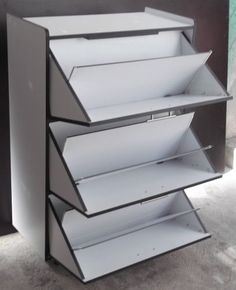 Ideas for shoe racks Shoe Cupboard, Shoe Storage Cabinet, Shoe Cabinet Design, Cama Murphy, Cool Furniture, Furniture Design, Diy Shoe Rack, Shoe Racks, Rack Design