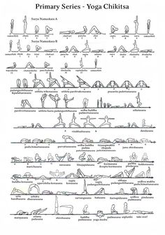 In the Ashtanga yoga system there are 6 series, the primary / first series is also referred to as Yoga Chikitsa. Yoga Chikitsa means yoga therapy and the purpose of this first series is to make the. Ashtanga Yoga Sequence, Ashtanga Yoga Primary Series, Yoga Sequences, Power Vinyasa Yoga, Vinyasa Yoga Poses, Yoga Yin, Yoga Meditation, Yoga Flow, Yoga Breathing