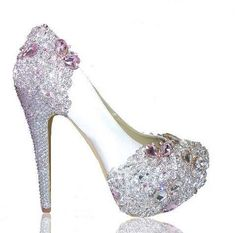 Lolita Various heel heights available Open or closed toe  Various crystal colours  www.crystalshoecouture.com