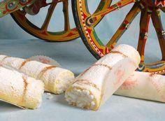 Delicatissima preparazione della pasticcera siciliana #Sicilia ; paradisiaco! #Rollò (rotolo) alla ricotta