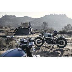 This is almost certainly more appealing than what you're doing right now, at least that's the case with me.  Shot by @laurentnivalle , a true master of light.  #BMW #Airhead #R90 #Scrambler #Triumph #Bonneville #Ural #SideCar #grizzlyride2016 #BenzinGarage #BenzinMagazine #Benzin