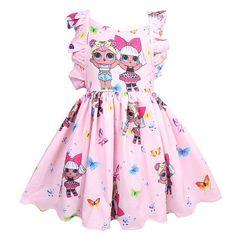L Surprise Dolls Printed Sleeveless Skirt Dress For Halloween Girls L.L Surprise Dolls Printed Sleeveless Skirt Dress For Hallowee – Fansholiday Toddler Dress, Baby Dress, Little Girl Dresses, Girls Dresses, Toddler Girl Parties, Toddler Girls, Sleeveless Swing Dress, Ruffle Dress, Backless Dresses