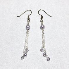Off the Chain Earrings - Lavender, Swarovski