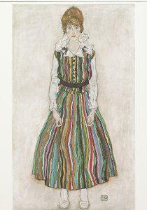 Postcards    Portret van Edith Schiele, 1915    Egon Schiele    A0299    Postcards, Art, Portraits, Clothing, Women, People,