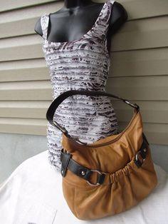 Tignanello women shoulder bag Cognac Hand Bag Leather #TignanelloChristianDiorpurseinverygoodpreow #Hobo