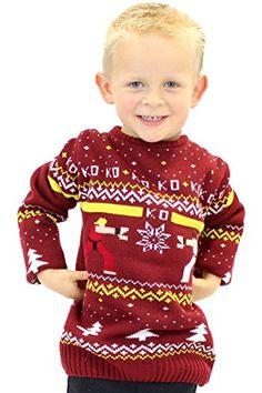 Official Street Fighter Ken Vs Ryu Kids Christmas Sweater…