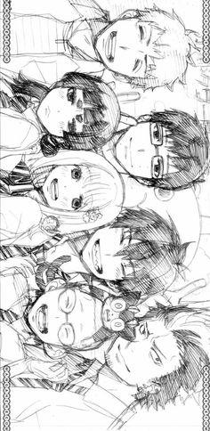 Blue Exorcist // Black and white from manga