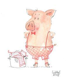 stupid pig, Cécile Hudrisier