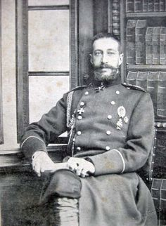 1904, Imperial Russia, Grand Duke Konstantin Konstantinovich (1858-1915).  He missed the chaos of the Russian Revolution, but his children were not so fortunate.  Three of his sons were killed by the Bolsheviks.  Others of his family escaped from Russia, but Grand Duke Konstantin has few descendants.  Many of the vanquished royals did not adapt well to lives as private citizens.