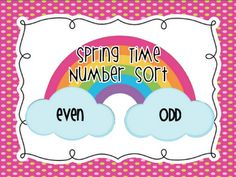 FREE Math Station  Odd/Even Number Sort (0-50)