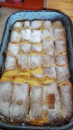 Nagyon finom túrós palacsinta lágy, vaníliás, habos, túrós töltelékkel, csőben sütve! Olyan receptet kerestem, ami mindkettőnknek kedvére lesz. Megtaláltam! :) Hozzávalók Palacsintatészta Töltelék: 50 dkg[...] Hungarian Desserts, Hungarian Recipes, Sweets Recipes, Cake Recipes, Cream Cheese Bread, Delicious Desserts, Yummy Food, Healthy Freezer Meals, Torte Cake