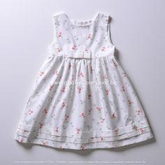 Vestido em tricoline Laços Baby Classic - GBaby Store