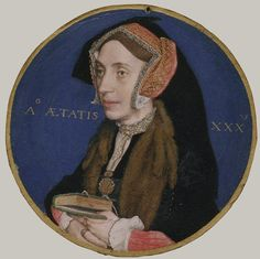 Margaret More (1505–1544), Wife of William Roper, 1535–36 Hans Holbien  Holbein learned the art of miniature painting from Lucas Hornebolte (1490/95?–1544) of Ghent, one of the inventors of the genre, who was painting miniatures at Henry VIII's court as early as 1525. Margaret More, the eldest and favorite child of Sir Thomas More, was born in 1505, and the age assigned to her in Holbein's inscription indicates that this miniature was painted 1535–36, shortly after her father's execution.