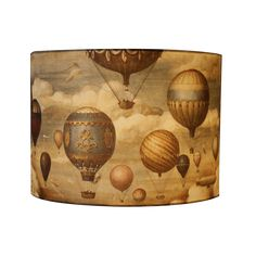 Linen Pleated Lampshades ~ Four Sizes – Scumble Goosie Drum Shade, Hot Air Balloon, Lampshades, Soft Furnishings, Drums, Balloons, Bulb, Traditional, Contemporary