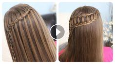 Şelale ve Merdiven Stili Saç Örgüsü -