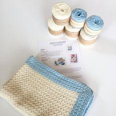 Baby Blanket Crochet PATTERN Kit  Pattern and Yarn by LittleMonkeyShop