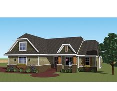 Eplans Traditional House Plan - Island Kitchen Open to Great Room - 1824 Square Feet and 3 Bedrooms(s) from Eplans - House Plan Code HWEPL75602