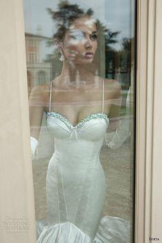 berta wedding dress 2014 mermaid gown straps