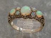 Zilveren edelsteen ring Australische Opalen