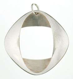 GEORG JENSEN. A SILVER PENDANT 368, DESIGNED BY HENNING KOPPEL, MID 20TH C, MAKER'S MARK AND NUMBER, 12G  Sold @ Mellors & Kirk
