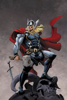 Thor by JeremyColwell on DeviantArt Marvel Comic Universe, Marvel Comics Art, Marvel Heroes, Marvel Characters, Thor Marvel, Comic Book Superheroes, Comic Books Art, Comic Art, Thor Wallpaper