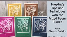 cardmaking video tip from The Stamp Camp: Tuesday's Tips and Techniques with the Stamparatus and the Prized Peony ... How to get perfect die cut edges with thinlet dies and coordinating stamps ... especially useful when making a large number at once. ... Card Making Tips, Peony, Cardmaking, Tuesday, Stamps, Number, Cards, Seals, Peonies