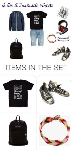 """""""I Am A Fantastic Wreck"""" by fairyfisticuffs ❤ liked on Polyvore featuring arte, converse, hoodie y clotheshavenogender"""