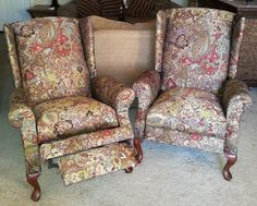 set of chairs after I re-upholstered them