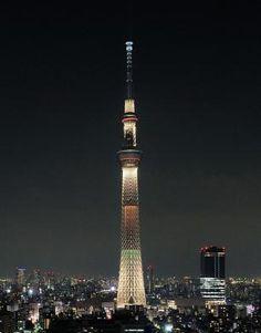 スカイツリー、2020年東京オリンピック招致の特別ライトアップ