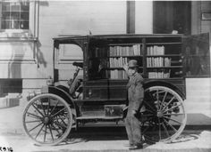 Washington County (Md.) Free Library's first motorized bookmobile.