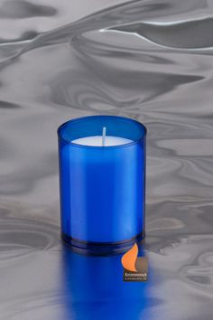Einsatzkerzen blau für Q-Lights & Barrilito Pillar Candles, Candle Holders, Shop, Candles, Blue, Porta Velas, Taper Candles, Candle Stand