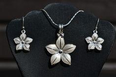 Zilveren Bloemen Prachtige set van zilver 950 Prijs: €43,50 Gratis verzending in NL  http://www.dczilverjuwelier.nl/zilveren_sieraden/Online_kopen_Zilveren_ketting_met_hanger_oorbellen_012427
