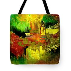Abstracto Tote Bag featuring the painting Paradise by Riccardo Zullian