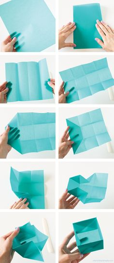 Origami Gift Box - A simple yet fantastic and unique way to give gifts. This origami gift box even has room for a little message to be slipped inside. gift box Become a DIY Expert With These 25 Projects Origami Diy, Origami Gift Box, Origami Paper, Easy Origami Box, Oragami, Origami Ideas, Origami Box Tutorial, Simple Origami, Origami Design