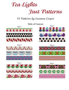 TEA LIGHT COVERS JUST PATTERNS | Bead-Patterns.com
