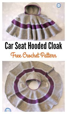 Car Seat Hooded Cloak Free Crochet Pattern