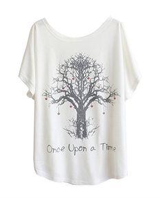 Luna et Margarita T-shirt femme blanche manche chauve-souris à motif col rond coton mélange taille 36 38 40 42 44 46: Jouez avec les motifs…