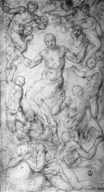 Christ the Judge with the Creation of Eve - Jacopo Pontormo