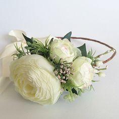 Ivory Flower Crown Bridal Flower Crown by OhDinaFlowerCrowns