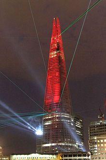 "Architect: Renzo Piano. ""The Shard"", London. -"