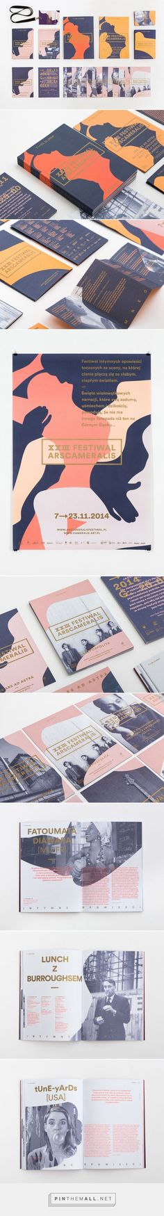 Polish multidisciplinary graphic designer Marta Gawin created this great identity for the XXIII Ars Cameralis Festival a visual arts festival in Poland. Logo Design, Design Poster, Graphic Design Branding, Graphic Design Illustration, Identity Design, Brochure Design, Typography Design, Layout Design, Print Design