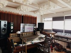 In the studio with Hugar | Headphone Commute Oblique Strategies, Film Score, Music Studios, Playing Piano, Pedalboard, Sound Design, Custom Lighting, Stick It Out