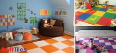 SoftTiles Interlocking Foam Mats- Children's Play Mats & Playroom Flooring - maybe in black and white