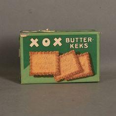 Blechdose. XOX Butterkeks. Bahlsen. 1930 - 1940.