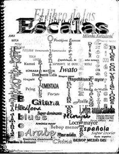 El libro de las escalas Guitar Classes, Music Chords, Trombone, Music Theory, Violin, Musicals, Sheet Music, Blues, Learning