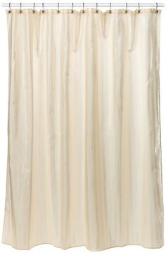 Croscill Fabric Shower Curtain Liner, by Linen Croscill's Fabric Shower Curtain Liners are Polyester and water repellent. Long Shower Curtains, Shower Curtain Rings, Fabric Shower Curtains, Striped Curtains, Shower Liner, Large Shower, Curtains With Rings, Curtain Fabric, Bathroom Accessories