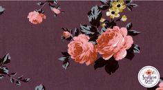 Vivian Floral Print on Lavender #SouthernBelleFabrics