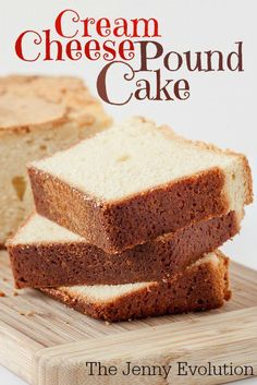 Super Moist Cream Cheese Pound Cake Recipe- super moist and sweet enough to eat all on its own. Healthy Cake Recipes, Pound Cake Recipes, Baking Recipes, Pound Cakes, Milk Recipes, Potato Recipes, Pasta Recipes, Bread Recipes, Crockpot Recipes