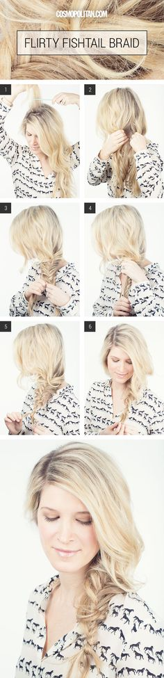 How to Make A Fishtail Braid - Sexy and Sultry Braided Hairstyles for Long Hair - Cosmopolitan